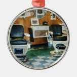 Corner Barber Shop Two Chairs Christmas Ornament