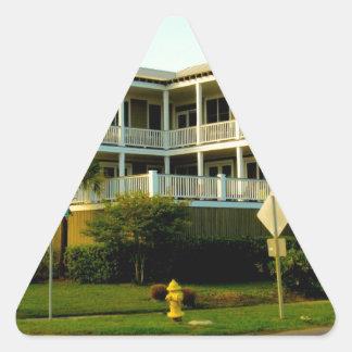 Corner Beauty at Isle of Palms Triangle Stickers