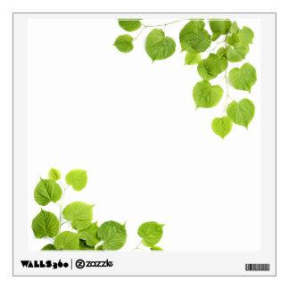 Corner Border Green Leaves Wall Sticker