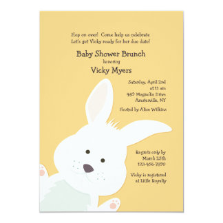 Corner Bunny Invitation