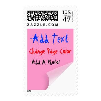 Corner Curl TEMPLATE Postage Stamp