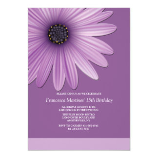 Corner Daisy Invitation
