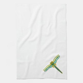 Corner Detail Dragonfly Kitchen Towel