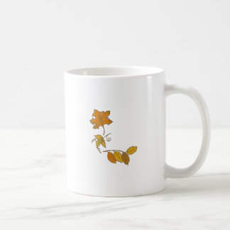 CORNER FALL LEAVES COFFEE MUG