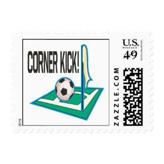 Corner Kick Postage Stamps