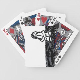 corner kid bicycle playing cards