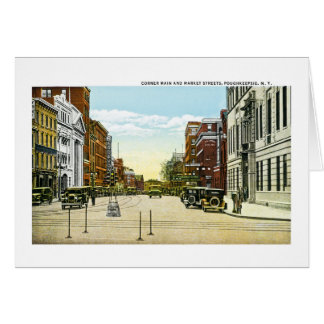 Corner Main and Market Streets, Poughskeepsie, NY Card