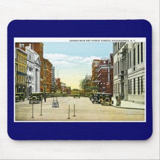 Corner Main and Market Streets, Poughskeepsie, NY Mousepad
