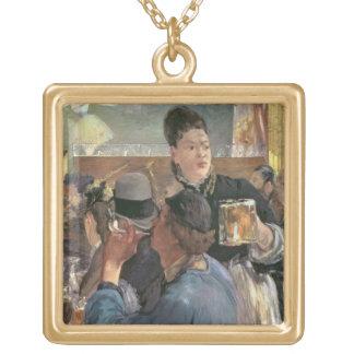 Corner of a Cafe-Concert, 1878-80 Square Pendant Necklace