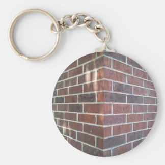Corner of a Red Brick Building. Keychain
