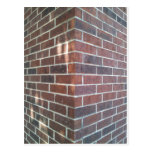 Corner of a Red Brick Building. Post Card