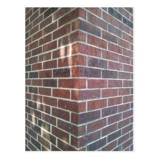 Corner of a Red Brick Building. Postcard