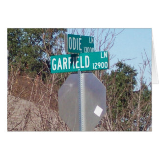 Corner of Garfield and Odie Card