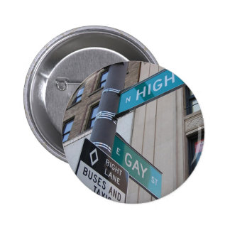 Corner of Gay and High Streets Pinback Button