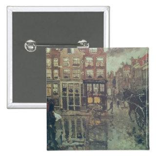 Corner of Leidsche Square, Amsterdam Pinback Button
