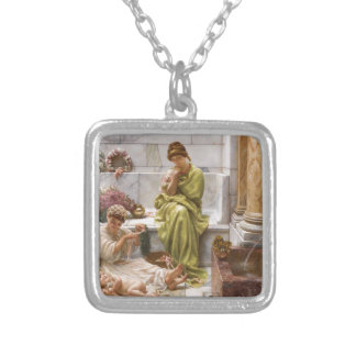 Corner of Market Place Silver Plated Necklace