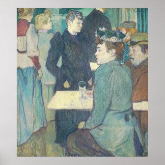 Corner of Moulin de la Galette by Toulouse-Lautrec Poster