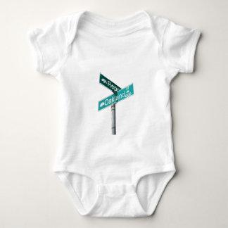 Corner of Represent & Oakland (www.repoakland.com) Baby Bodysuit