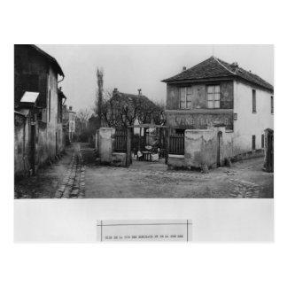 Corner of rue des Rondeaux Postcard
