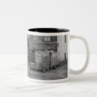 Corner of rue des Rondeaux Two-Tone Coffee Mug