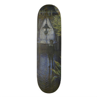 Corner of the Apartment by Claude Monet Skateboard Deck