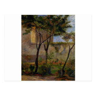 Corner of the garden rue Carsal by Paul Gauguin Postcard