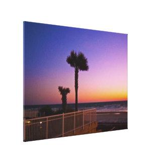 Corner of the Ocean Vistas Pool Deck at Dawn Canvas Print