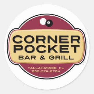 Corner Pocket Bar and Grille Classic Round Sticker