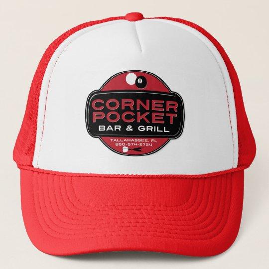 Corner Pocket Bar and Grille - RED Trucker Hat