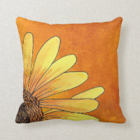 Corner sunflower Pillow