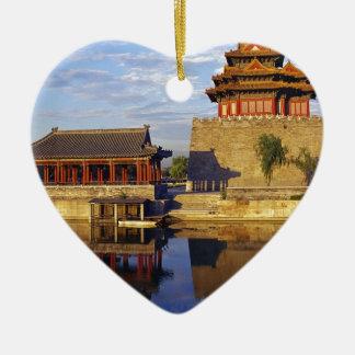 Corner Tower of Forbidden City, Beijing, china Christmas Tree Ornament