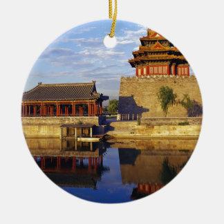Corner Tower of Forbidden City, Beijing, china Ornament