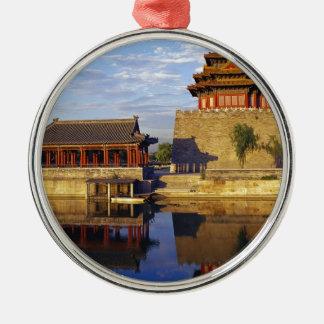 Corner Tower of Forbidden City, Beijing, china Christmas Tree Ornaments