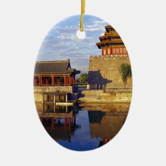 Corner Tower of Forbidden City, Beijing, china Christmas Ornaments