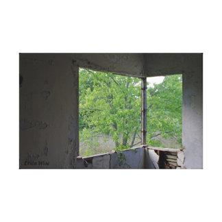 Corner Window Canvas Print