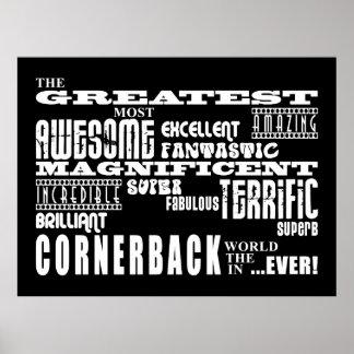 Cornerback del fútbol: El cornerback más grande Poster