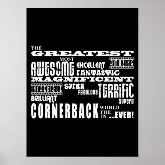 Cornerback del fútbol: El cornerback más grande Posters