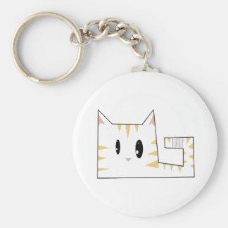 Cornered Kitty Key Chain