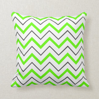 corners green and grey pillow