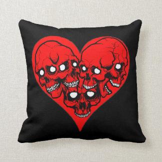 Corners Skull Heart Pillow