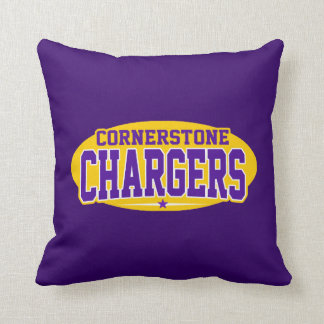 Cornerstone Christian; Chargers Throw Pillow