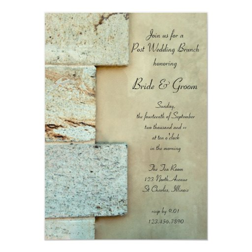 Cornerstones Post Wedding Brunch Card