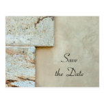 Cornerstones Wedding Save the Date Announcement Postcard