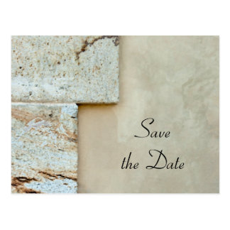 Cornerstones Wedding Save the Date Announcement Post Cards