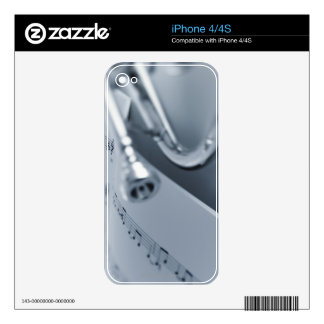 Cornet and Music Book Skins For iPhone 4S