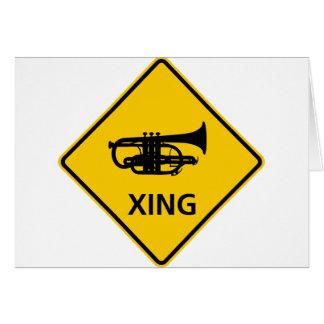 Cornet Crossing Highway Sign Card