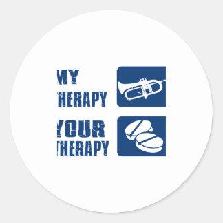 cornet is my therapy classic round sticker