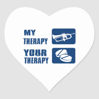 cornet is my therapy heart sticker