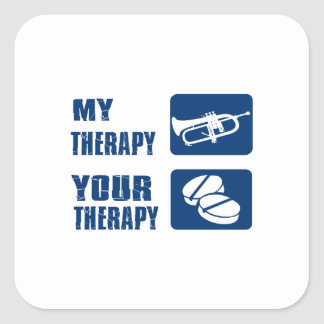 cornet is my therapy square sticker