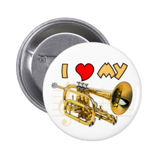Cornet Love Pinback Button